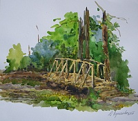 """The bridge in the forest. Study """