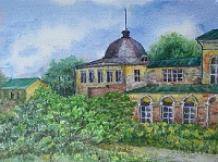 "Painting ""Manor Mikhailovskoe"""