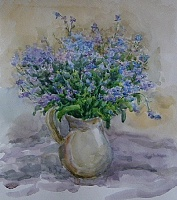 "The painting ""Myosotis sylvatica"""
