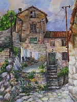 "Painting ""Montenegro. House in Kotor """