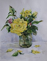 "PICTURE ""Yellow dog rose"""