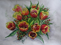 "The painting ""Bouquet for Galya"""