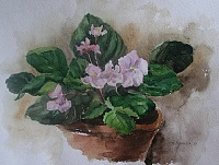 "The painting ""Study with violets"""