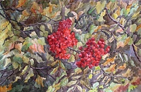 "Painting ""Gifts of Autumn. Rowan """