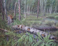 "The painting ""The territory of beavers"""