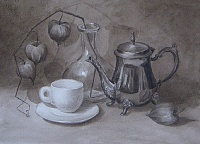 "Painting ""Autumn coffee"""