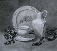 "PICTURE ""Still life with white porcelain"""