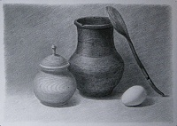 "Drawing ""Pitcher and egg"""