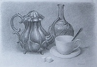 "drawing ""Old coffee pot"""