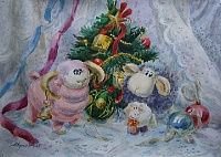 Christmas still life. Year of the Sheep